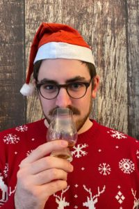 Conor enjoying a festive dram